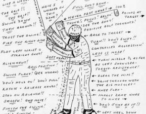 Lecon de golf